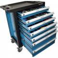 Тележка инструментальная 7-и полочная(синяя) укомплектованная инструментом 220пр  PA-1141217B