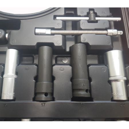 """Набор инструмента 94+6пр. 1/4"""", 1/2"""" (6гр.)+(головка-бита1/4""""T40;биты 5/16""""М5,6,8,10,12,14;головка 1/2""""8мм;ключиГ-обр.4,5,6мм,T20H,T25H) F-4941-5 PREMIUM - 1"""