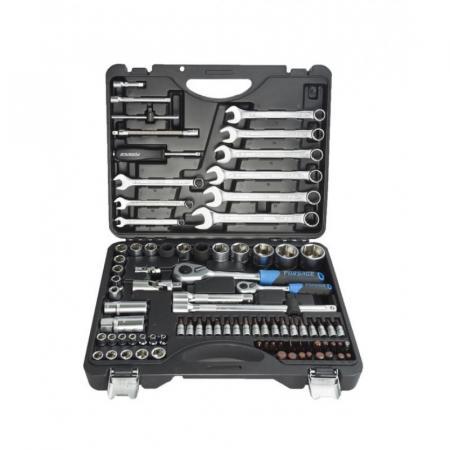 """Набор инструмента 82+6пр. 1/4"""", 1/2"""" (6гр.)+(головка-бита 1/4"""" T40; биты 5/16"""" М8,10,12,14;головки 1/2"""" 10,12,13мм;ключи комбинир.15,16мм) F-4821-5 PREMIUM - 1"""