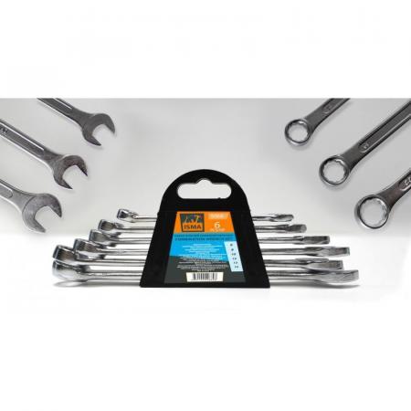 Набор ключей комбинированных 6пр. (6, 8, 10, 12, 13, 14мм).в пластиковом держателе ISMA5068 - 1