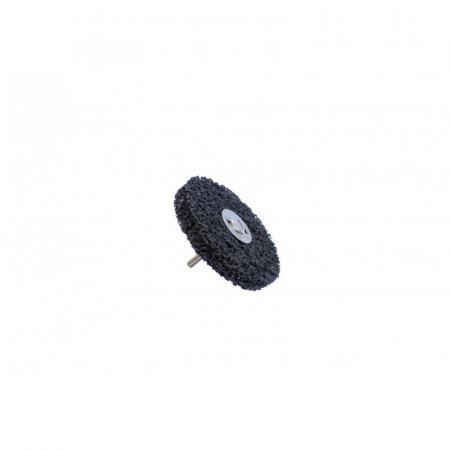 Круг абразивный зачистной для дрели 100мм (черный, Ø хвостовика 6мм, max об/мин 11500), в блистере F-BD100R - 1