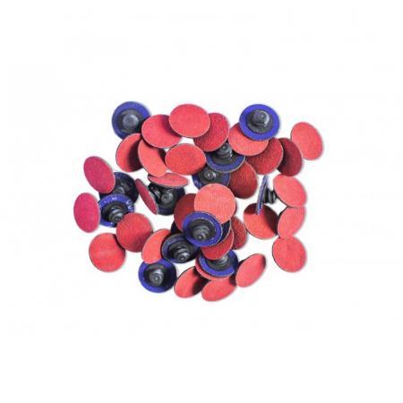 Круг абразивный шлифовальный 25мм (№100,красный)(к-т 50шт) F-BD1100C - 1
