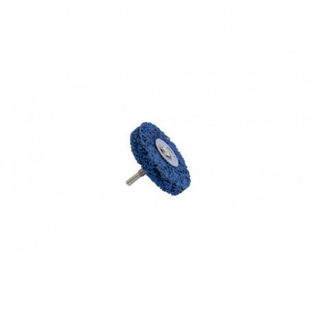 Круг абразивный зачистной для дрели 115мм (синий, Ø хвостовика 6мм, max об/мин 11000), в блистере F-BD115G - 1