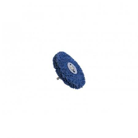 Круг абразивный зачистной для дрели 125мм(синий, Ø хвостовика 6мм, max об/мин 11000), в блистере F-BD125G - 1