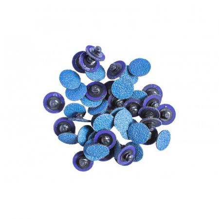 Круг абразивный шлифовальный 25мм (№40,синий)(к-т 50шт) F-BD140Z - 1