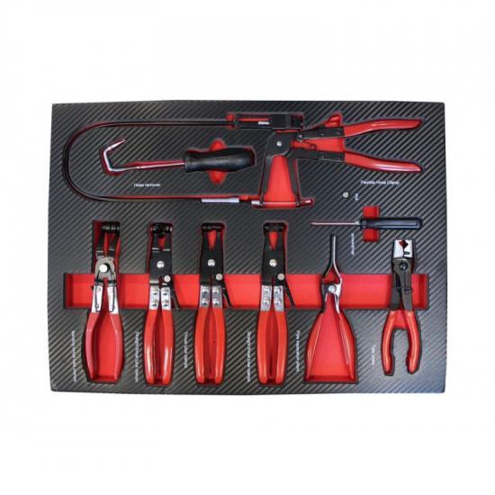 Набор инструментов для снятия/ установки хомутов  9пр,в ложементе EF-21035 - 1